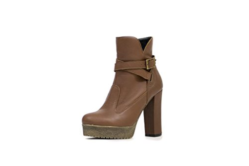 N & K Londen Schoenen Gaia Hoge Hak, Dames Boots Brown