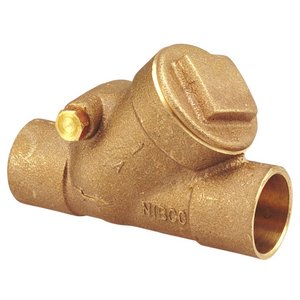 NIBCO S-413-Y Cast Bronze Check Valve, Silent Check, Class 125, PTFE Seat, 2'' Female Solder Cup