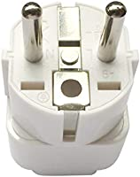 Travel Adapter for EU/DE/FR/IT/ES/Europe, UAE/KSA/UK/HK/US/JP/CN/AU to EU Plug Converter, Electronic Appliance Adapt to...