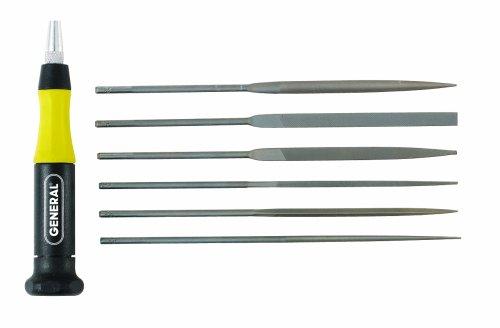 (General Tools 707476 6-piece Swiss Pattern Chromium Alloy Steel Needle File)