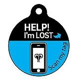 Platinum Pets The Original Smartphone Dog ID Tag with GPS, Medium, Blue, My Pet Supplies