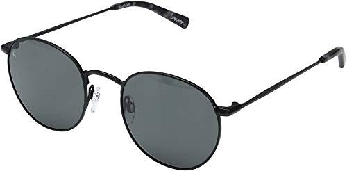 Smoke Cr 39 Lenses - Raen Men's Benson 51 Sunglasses, Black/Ripple Smoke, One Size