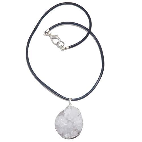 SatinCrystals Quartz Clear Necklace 20