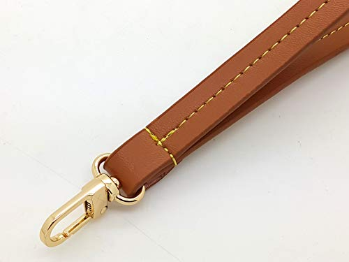 - Nelliz Handmade Real Leather Wristlet Strap Band for Pouch Clutch Patina pochette accessoires Neverfull eva Pallas Bag Purse