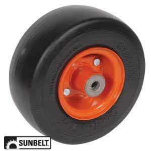 Kubota frontal Cortacésped Deck wheel-smooth 6 x 3.5 x 4 Color ...