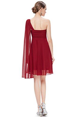 Aurora Ruban De Mariée Robe De Demoiselle D'honneur Courte En Mousseline De Soie Femmes Robe De Bal 2016 Bordeaux