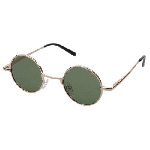 Polarized Round John Lennon Sunglasses for Kids By Aoron Glasses 802 (Gold)