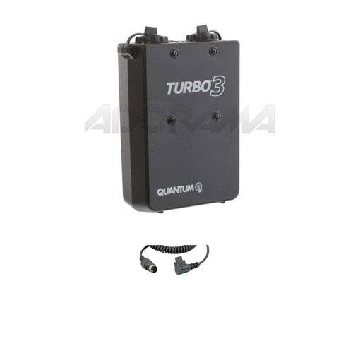 Quantum Flash Battery - Quantum Turbo 3 Rechargeable Battery with CZ2 Canon Cable