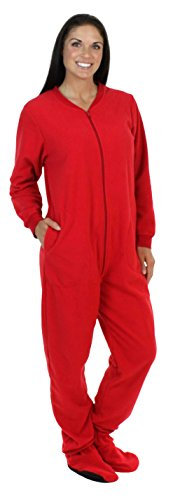 SleepytimePjs Family Matching Red Fleece Onesie Pjs Footed Pajamas for  Family-Women (STM17- 4adf57911