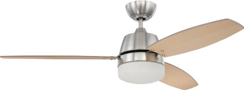 Craftmade BEL52BNK3CRW Ceiling Fan with Blades Included, 52