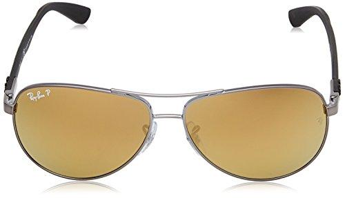 CARBON Espejo FIBRE RB Sonnenbrille Ban 004 Bronce Polarizado K6 Configuración Gafas 8313 Plateado Multicolor Ray qAEvp