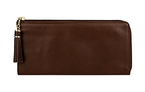 Size Chocolat Zip Closure Womens Scully 5003 Way Leather With One 3 Wallet SnHSPFzqwp