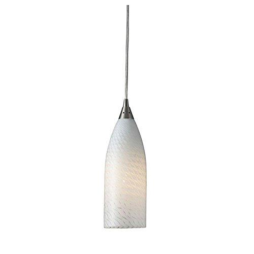 ELK 522-1WS-LA, Cilindro Mini Blown Glass Cone Pendant, 5 Light, 100 Watts, Satin Nickel