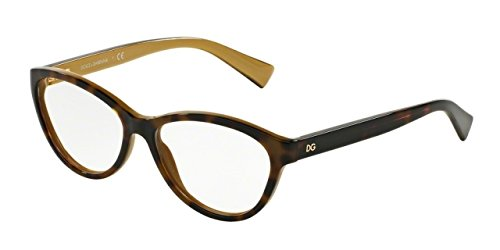 Dolce&Gabbana DG3232F Eyeglass Frames 2956-55 - Top Havana On - Eye And Dolce Gabbana Cat Eyeglasses