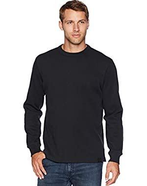 Mens Waffle Knit Thermal Crew Neck