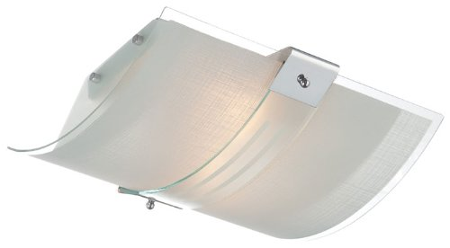 - Lite Source LS-5430 Flush Mount with Frosted Glass Shades, Chrome Finish