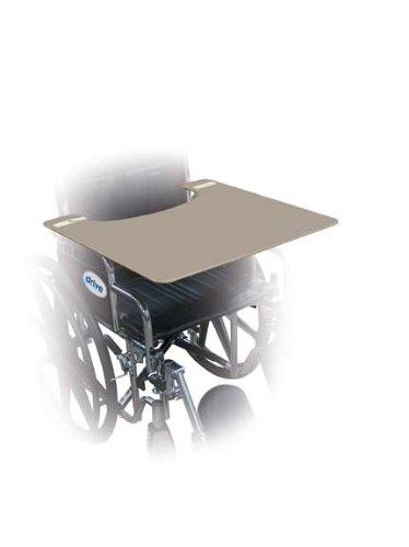 Drive Medical Portable Wheelchair Tray, Walnut