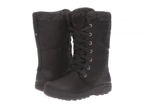 Keen(キーン) レディース 女性用 シューズ 靴 ブーツ スノーブーツ Fremont Lace Tall Waterproof - Black [並行輸入品]