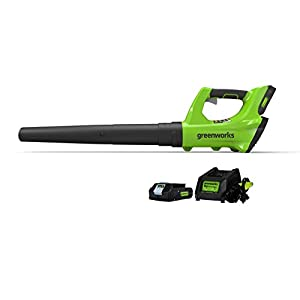 Greenworks 24V Cordless Jet Blower, 2.0 AH Battery Included 2400702
