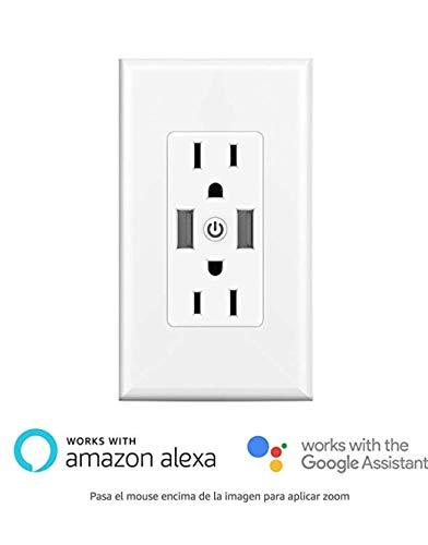 Smart Wall Outlets - Duplex Receptacle,Independently Controlled Top and Bottom Sockets, Work with Alexa Dot Echo Plus Google Assistant IFTTT,No Hub Required (1) by KAPOK (Image #7)
