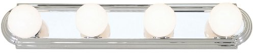 Livex Lighting 1144-05 Basics 4-Light Bath Light, Chrome
