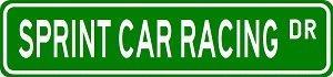 Teisyouhu Yard Fence Garage Decorative Sign Sprint Car Racing Sport Safety Sign Metal Pet Sign Gift