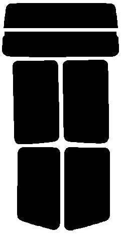 株式会社セブン 2層構造ハードコートフィルム マツダ ボンゴフレンディ SG リヤーセット カット済みカーフィルム ダークスモーク
