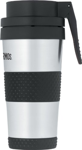 (Thermos 14 Ounce Vacuum Insulated Stainless Steel Lever Operated Lid Tumbler, Stainless Steel)