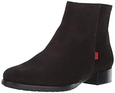 MARC JOSEPH NEW YORK Womens Leather Made in Brazil Prince Street Bootie Ankle Boot, Black Nubuck, 5 B(M) US