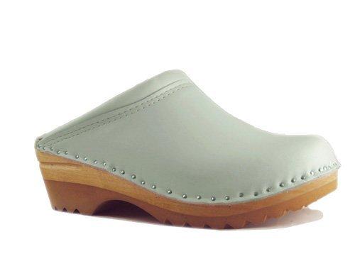 separation shoes aa772 14801 Troentorp Women s B aring stad Rembrandt White Leather Clogs 39 EU Parent  Parent Parent B00BHKHJMY af8444