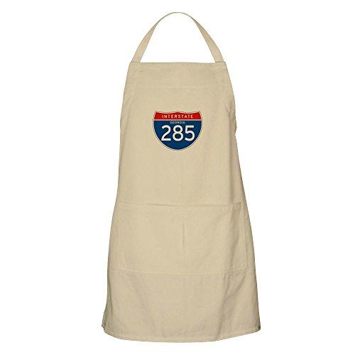 CafePress Interstate 285 - GA BBQ Apron Kitchen Apron with Pockets, Grilling Apron, Baking Apron (Best Bbq Savannah Georgia)