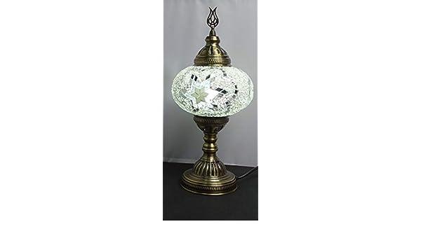 Lampara turca sobre mesa 38 cm x bola de 18 cm de diámetro ...