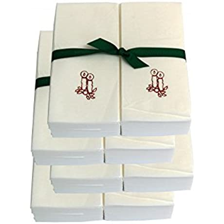 Disposable Guest Hand Towels With Ribbon Embossed With Red Candles 500ct