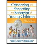 Observing & Recording Behavior of Young Children (5th, 08) by Cohen, Dorothy H - Stern, Virginia - Balaban, Nancy - Gropper, [Paperback (2008)]
