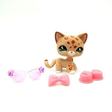 Amazon.com: Littlest Pet Shop pelo corto gato Kitty Leopard ...