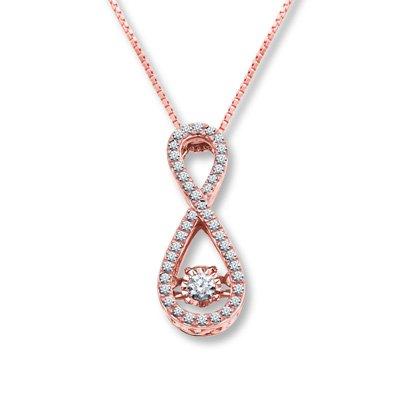 Amazoncom Jared Diamonds in Rhythm14 ct tw Necklace10K Rose