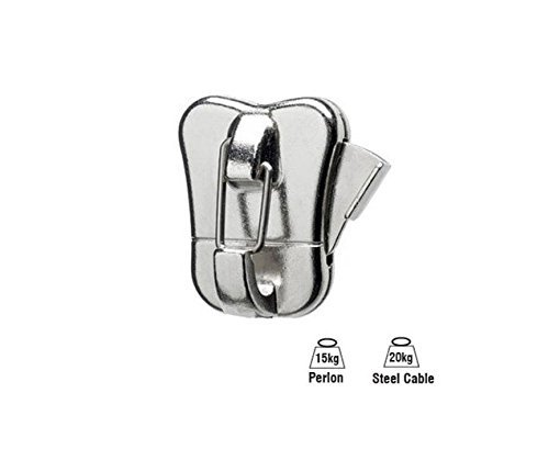 STAS Zipper Pro - Picture Hanging Security Hooks for Perlon Cords or Steel Cables or Wires (20)