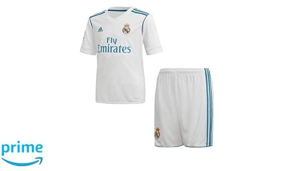 Camiseta y Pantalón Corto Real Madrid 2017/2018 Hombre (S): Amazon ...