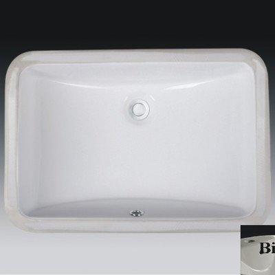Cheap  Wells Sinkware Rectangular Vitreous Ceramic Lavatory Single Bowl Undermount Bisque 21 x..