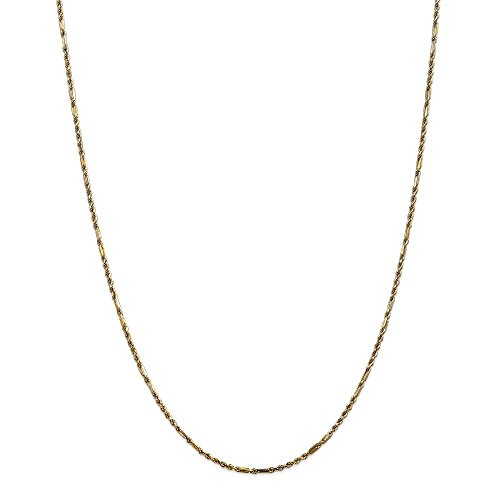 Milano Rope Chain (Solid 14K 1.8mm Milano Rope Chain Bracelet / Anklet)