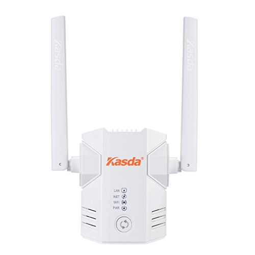 Kasda N300 Long Range WiFi Extender | Easy Setup via Smartphone | WiFi Repeater/Access Point | One-Push Connection | Seamless Roaming | 5dBi High Gain WiFi Booster (KW5583L)
