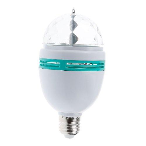 Lemonbest® 3W RGB Disco Ball Strobe Light, E27 LED Auto Rotating Stage Lighting For Disco DJ Party Club Bar Home