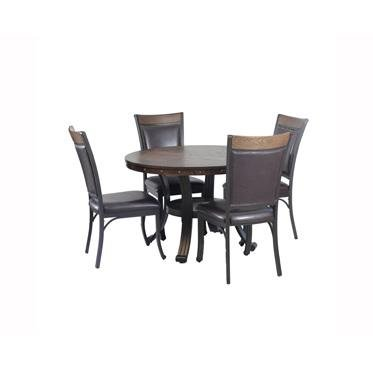 Powell's Furniture 15D2020 Franklin Dining Group, Dark Brown