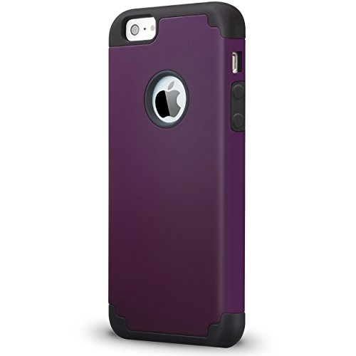Ailun Phone Case Compatible with iPhone 5s iPhone Se iPhone 5 Soft Interior Silicone Bumper Hard Shell Solid PC Back Shock Absorption Skid Proof Anti Scratch Hybrid Dual Layer Slim Cover Purple