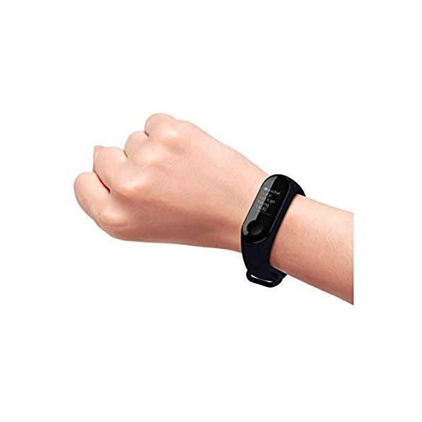 SClout Smart Fitness Band M3 with Heart Rate Monitor;Waterproof;Colorful Display;USB Charging;Call & MSG (Black) 6