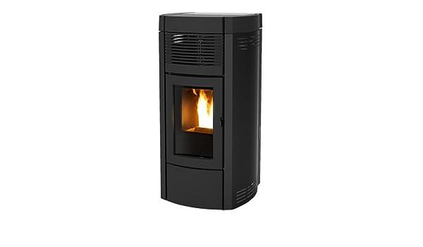 estufa de pellets MCZ MUSA Comfort Air de 14 KW, estructura de acero, Negro: Amazon.es: Hogar