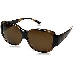 Solar Shield Beverly Polarized Rectangular Sunglasses, Tortoise, 62 mm
