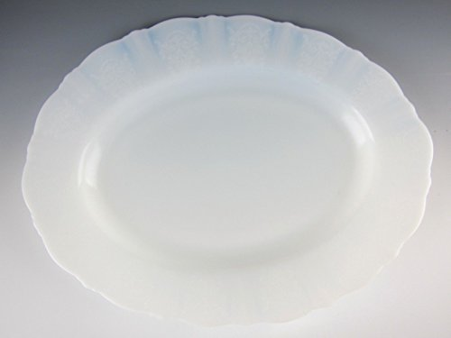 Macbeth Evans Milk Glass AMERICAN SWEETHEART Monay Oval Serving Platter EX