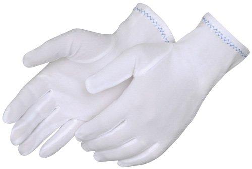Deluxe White Polyester Gloves - Liberty 4611 Nylon Full Fashion Stretch
