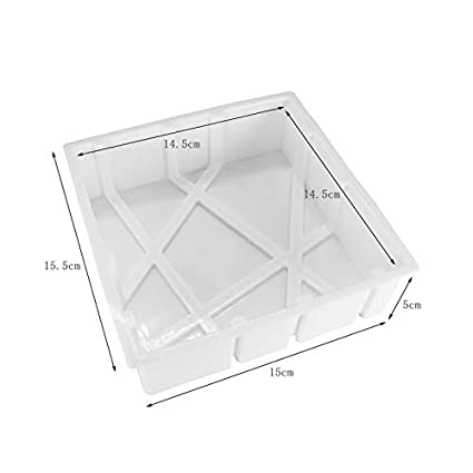 Anlin wei/ß Silikon Geometrische Cube kariert Brownie Chiffon Kuchen Formen Mousse Backform Backset Dessert DIY Bakeware Maker Kuchen Tools